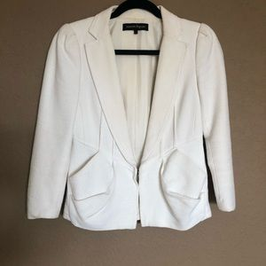 Nanette Lepore white tweed cropped blazer